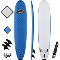 SBBC - 8'8 Soft Top Surfboard - || 8ft 8in Heritage || - Fun Performance Foam Surfboards | Great Surf Boards For All Surfing Skill Levels