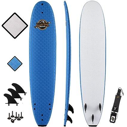 Amazon Com 8 8 Beginner Foam Surfboard Premium Soft Top