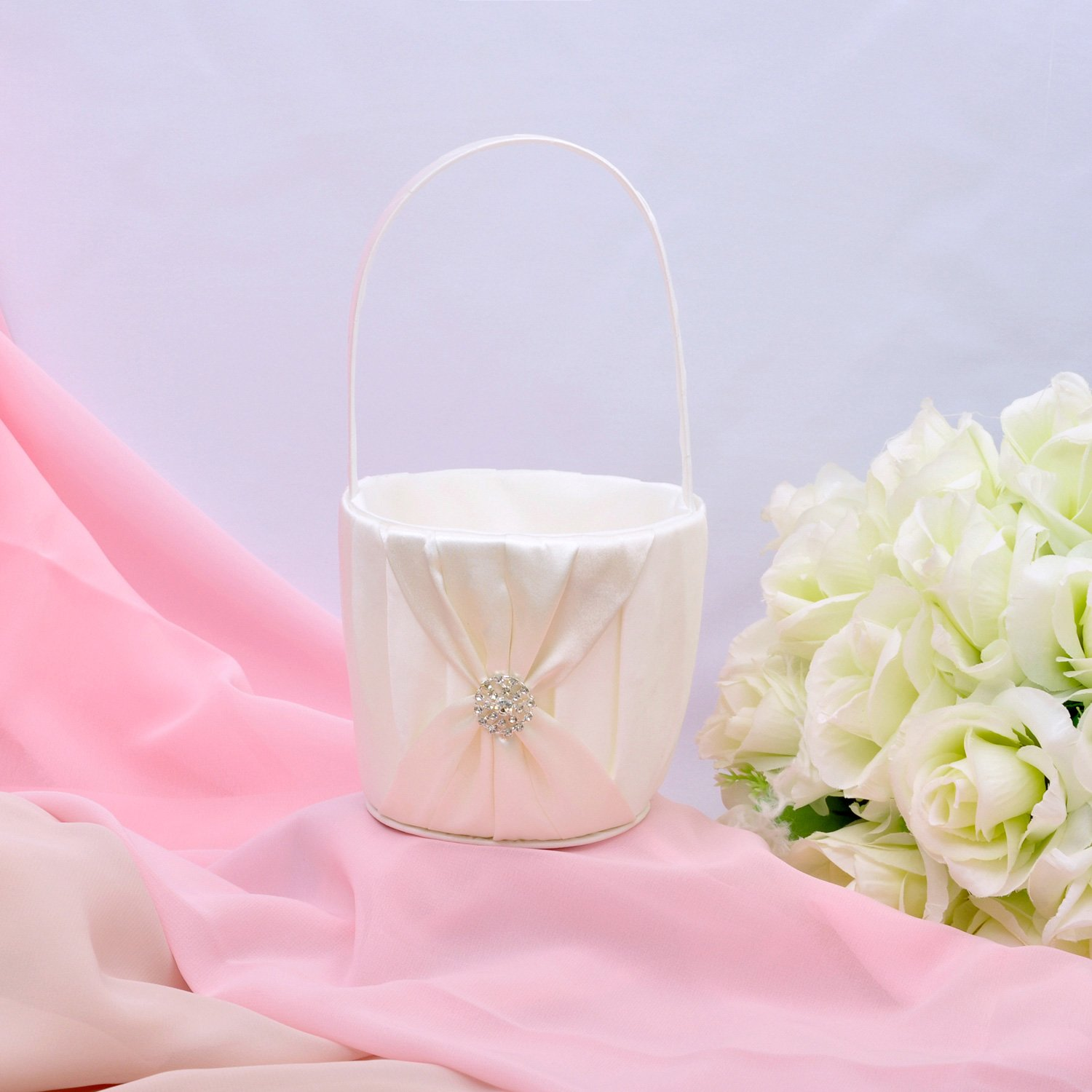 Amazon.com: Ivory Satin Bow Ceremony Collection Mermory Book: Home ...