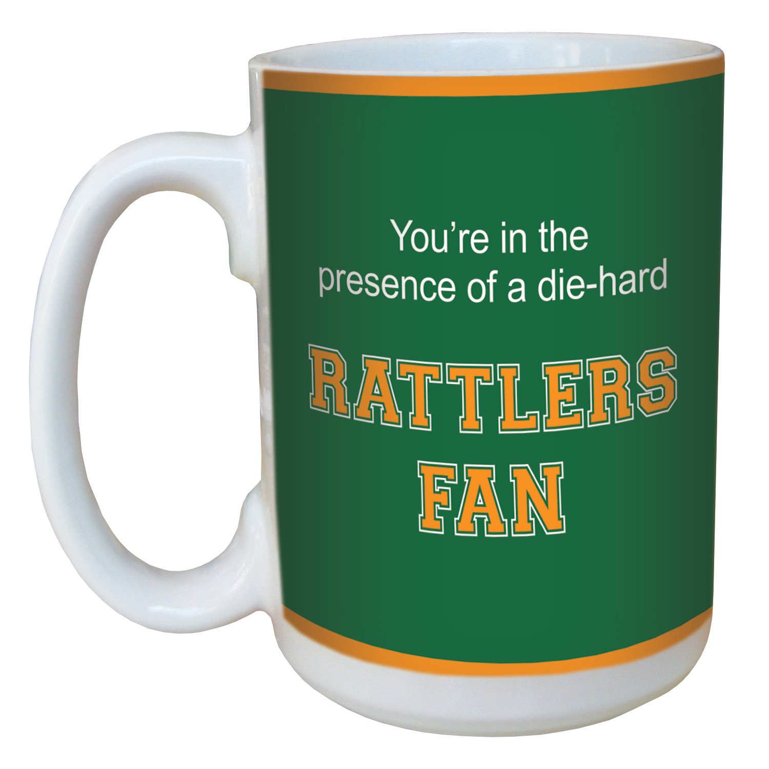 Tree-Free Greetings lm44434 Rattlers College Football Fan Ceramic Mug with Full-Sized Handle, 15-Ounce