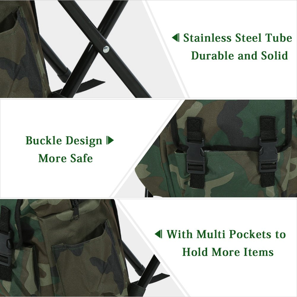 Amazon.com : VGEBY Outdoor Foldable Stool Seat with Bag Packpad for Fishing Camping Traveling : Sports & Outdoors