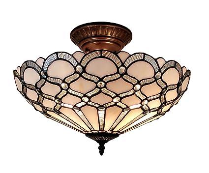 Amazon.com: Amora iluminación am108cl17 estilo Tiffany ...