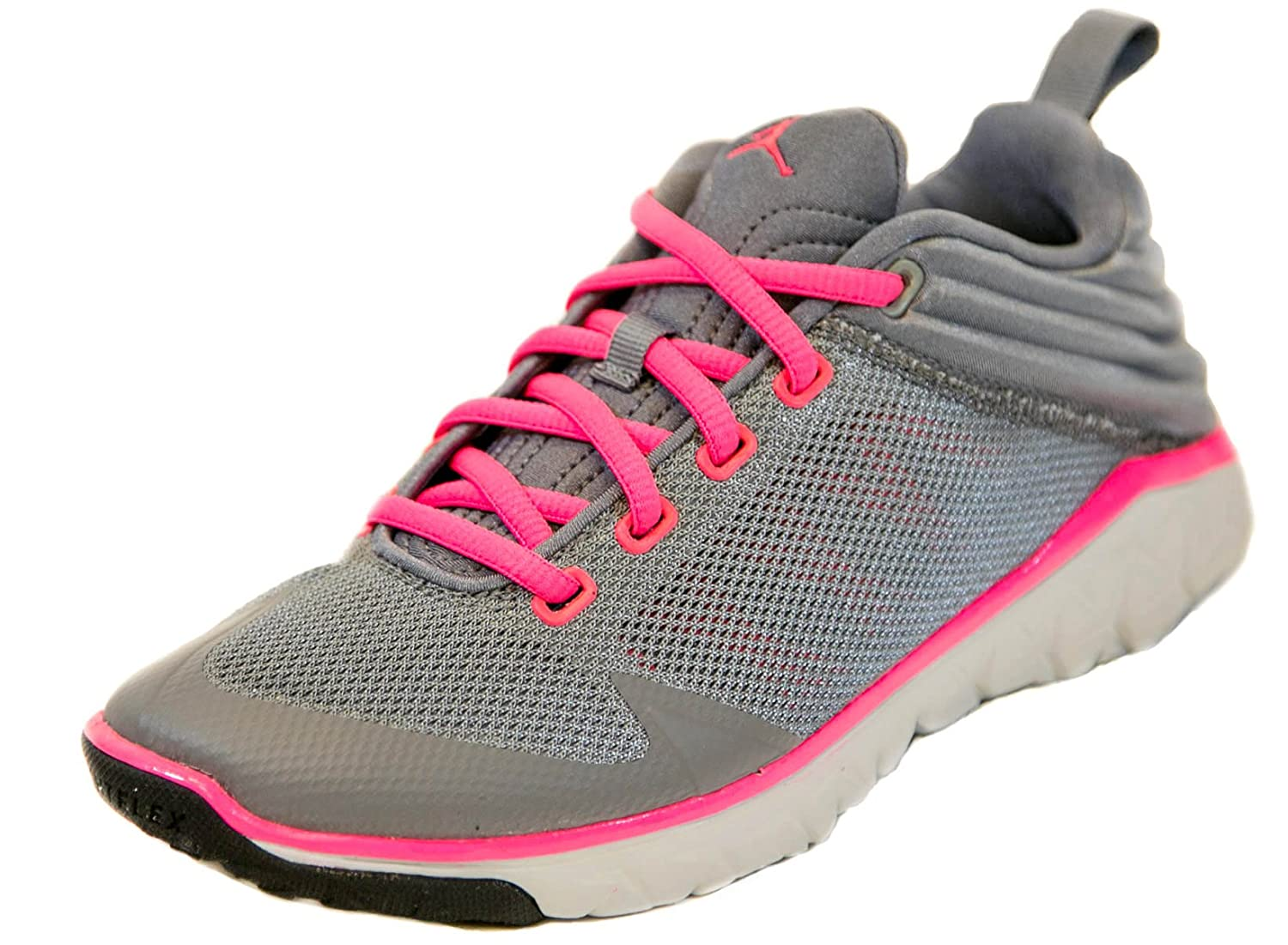 Jordan Flight Flex Trainer GG Youth Girls Training Shoes Grey//Pink 5.5Y Cl Grey//Hyper Pink Pr Platinum Black