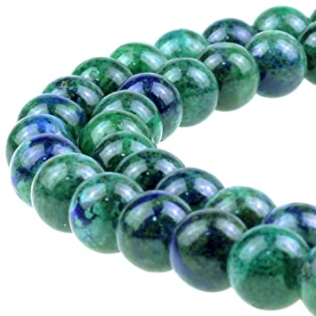 8mm Natural Green Amazonite C Grade Colour Enhanced Round Beads Oz Seller