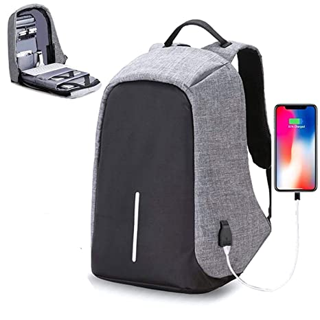 26f0d61feb Backpack OZOY Fabric Anti-theft Water Resistant Computer USB Charging Port  Lightweight Laptop Backpack Bag Fitting 15.6-inch Laptops Tablets   Amazon.in  ...