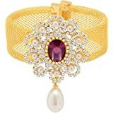 Sukkhi Magnificent Gold Plated AD Ten Changeable Stone Kada for Women