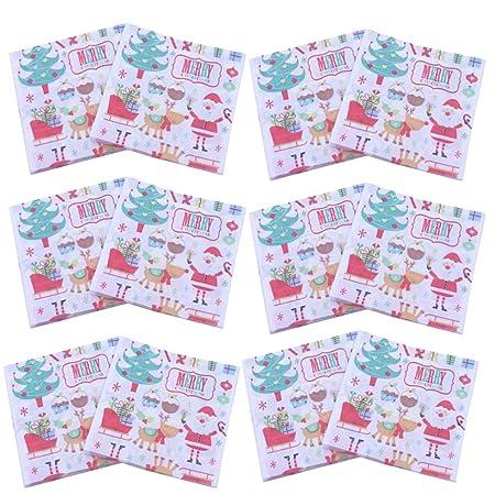 BESTONZON 60 hojas creativas de Papá Noel hermoso color ...