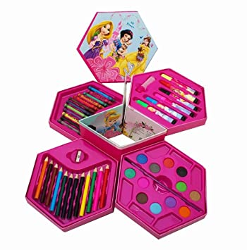 Shopkooky Princess Complete Coloring Box Set 46 Colors Return Gift Birthday Gifts Online Amazon In Office Products