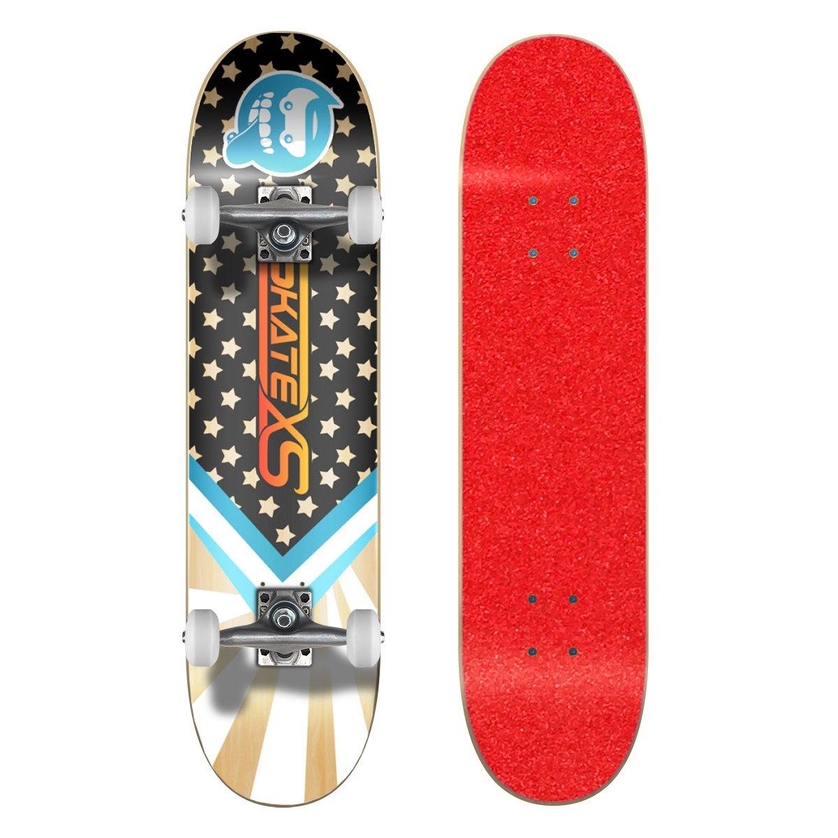 最大80%オフ! SkateXS 初心者 x Wheels スターボード (Ages ストリート スケートボード B01N1OF5LV 7.0 x 28 (Ages 5-7)|Red Grip Tape/ White Wheels Red Grip Tape/ White Wheels 7.0 x 28 (Ages 5-7), Blue in Green:84467672 --- a0267596.xsph.ru