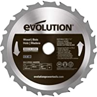 Evolution Power Tools 185BLADEWD 7-1/4-Inch Wood Cutting Blade with 20-mm Arbor