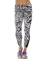 Layer 8 Womens Stretch Performance Compression High Waist Print Leggings