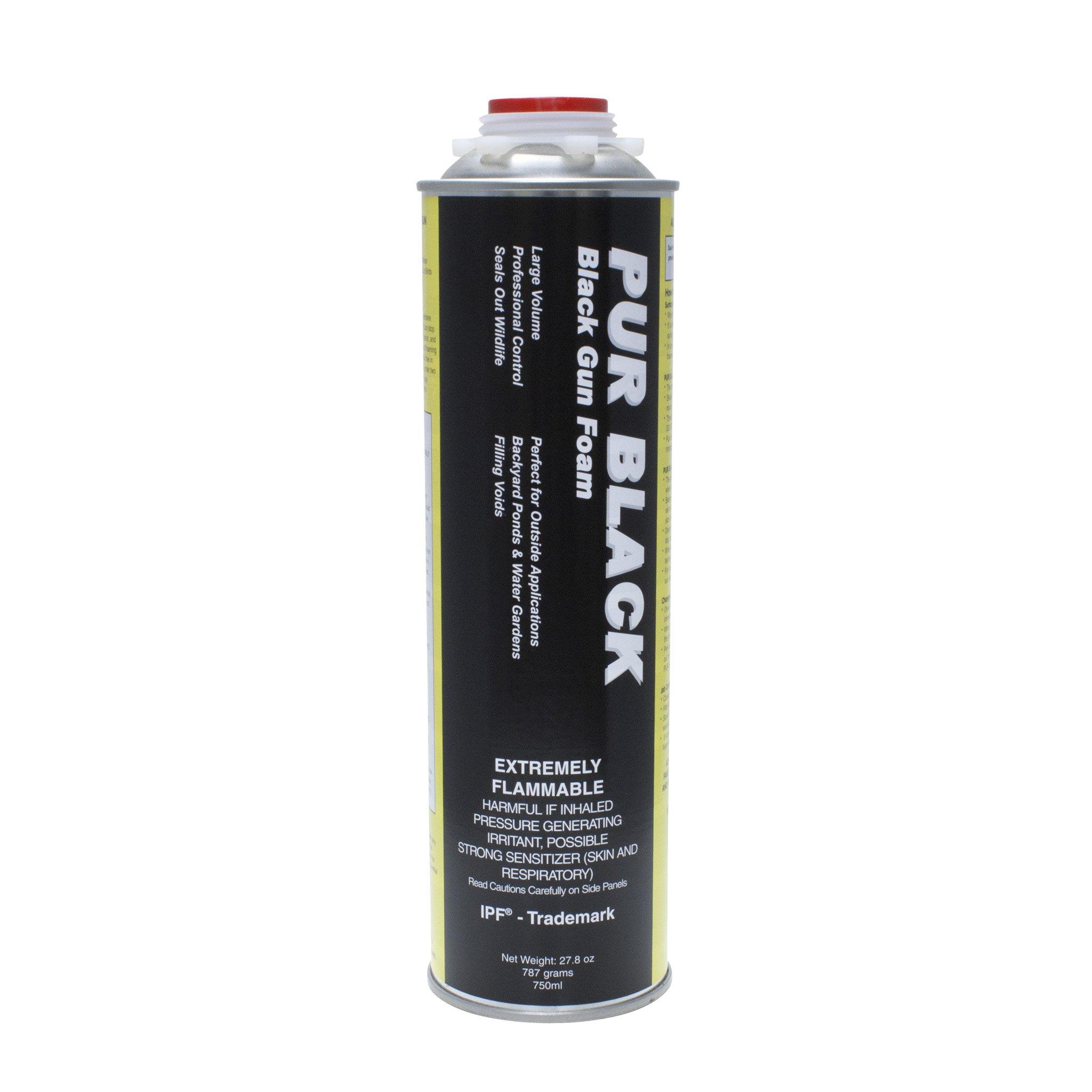 PUR BLACK Black Gun Foam 12 (25 oz cans) by Todol