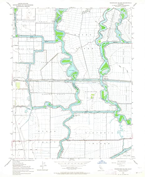 Amazon.com : YellowMaps Woodward Island CA topo map, 1:24000 Scale on