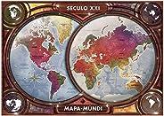 Grow - Mapa-Múndi Quebra-Cabeças 4000 Peças, 14+ Anos, Multicor, (Grow 3463)