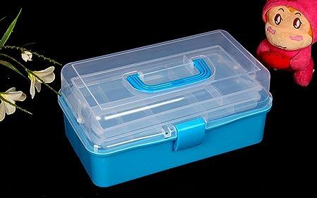 Axiba- Kits De Arte De La Caja De Almacenamiento De Plástico Caja De Herramientas Caja De Electricista Hardware Portátil,Clear: Amazon.es: Hogar