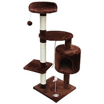 Woltu® # 663 Árbol del Gatos con caseta tiragraffi juguete escalador Parque Juegos para gato