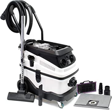 Opinión sobre Aspirador seco y húmedo 1600W con sistema de filtrado de 3-niveles, accesorios y función de soplado