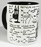 The Organic Chemistry Laboratory Tasse with glazed black handle and inner from Half a Donkey