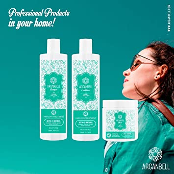 Amazon.com : ARGANBELL Conditioner Hair Loss Treatment - 500G. Created With a Mix of 5 Wonderful Oils - Coconut, Castor, Jojoba, Argan, Avocado.