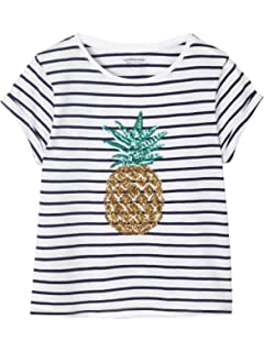 c1f031e38fce8 Vertbaudet T-Shirt rayé Fille Motifs Fruits pailletés: Amazon.fr ...