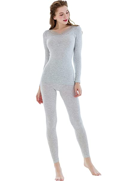 3804c2a865d87b Womens Heat Plus Baselayer Warm Cotton Waffle Thermal Underwear Long Johns  Sets at Amazon Women's Clothing store: