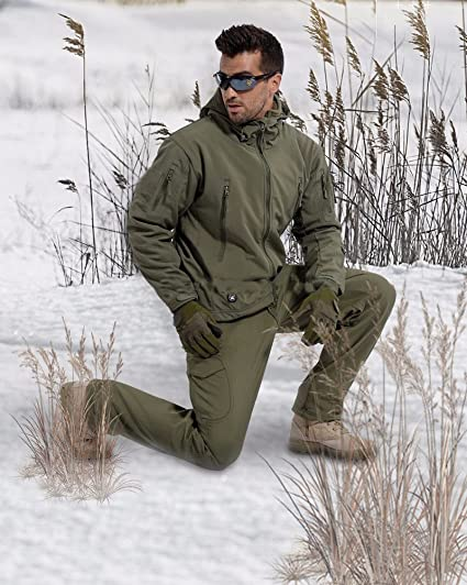 Herren Winter Militär Mäntel Jacken wasserdichte Winddichter Atmungsaktiv Windbreaker Kapuzenjacke Funktionsjacke Trenchcoat