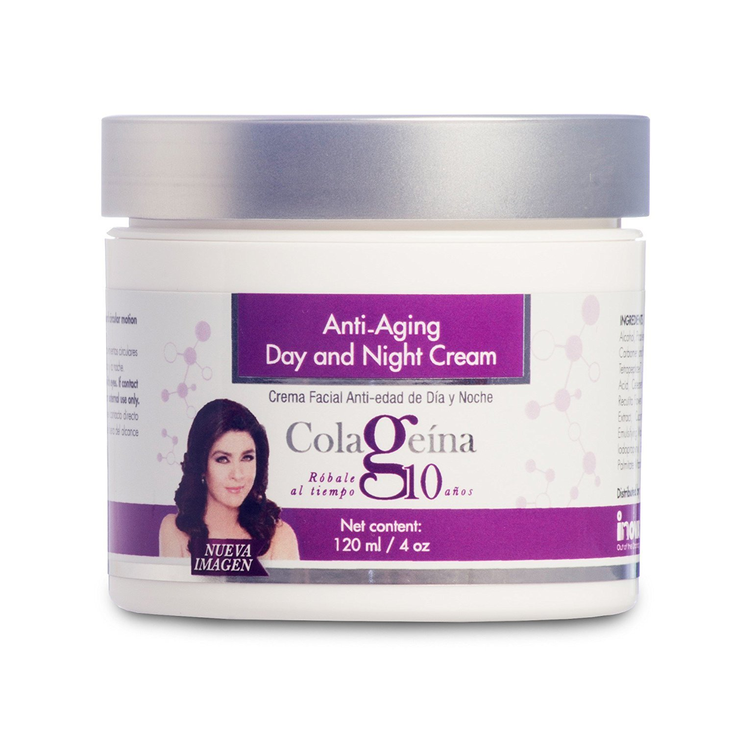COLAGEINA 10 Anti-aging Day and Night Cream Skin Care Treatment for a younger look