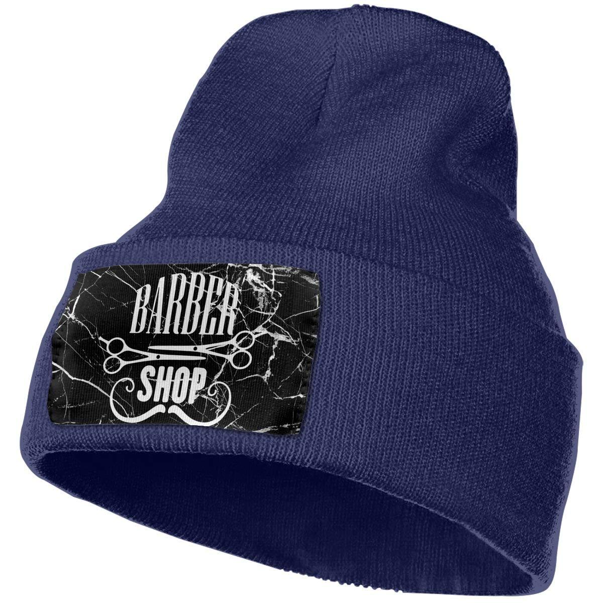 Barber Shop Skull Cap Men /& Women Knit Hats Stretchy /& Soft Beanie