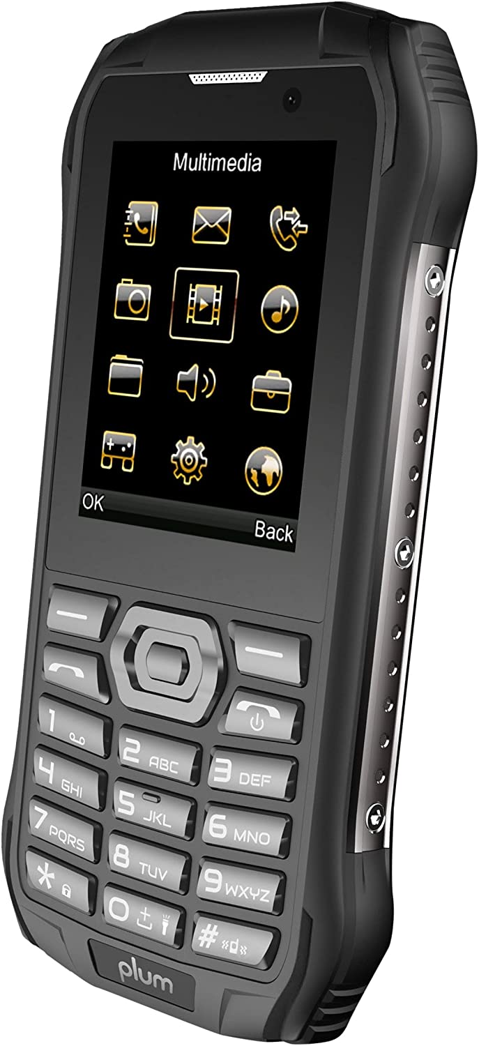 Plum Ram 7 - 3G Rugged Unlocked Cell Phone GSM - IP68 Certified Military Grade Water Shock Proof Dual Sim Global Ready
