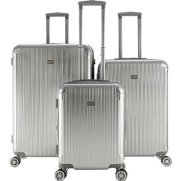 Amazon.com: Gabbiano Genova - Juego de 3 piezas de maletas ...
