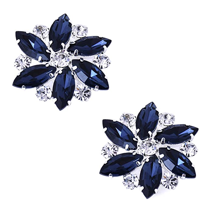 Vintage Style Jewelry, Retro Jewelry ElegantPark Shoes Dress Hat Accessories Fashion Rhinestones Crystal Shoe Clips 2 Pcs Multi Color $14.99 AT vintagedancer.com