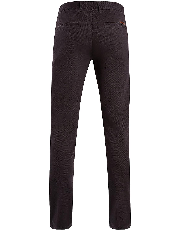 oodji Ultra Hombre Pantalones Chinos de Algodón: Amazon.es: Ropa y ...