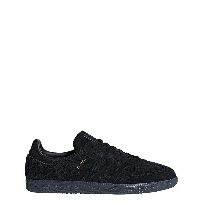 adidas Samba oG Schuhe Herren schwarz mit schwarzen Streifen Wildleder