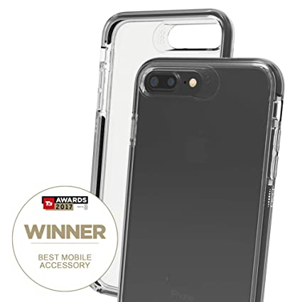 brand new 1afc3 2014b Gear4 D30 Piccadilly Case for iPhone 8 Plus/7 Plus Slim, Tough Design -  [Protected by D3O] - Clear/Black
