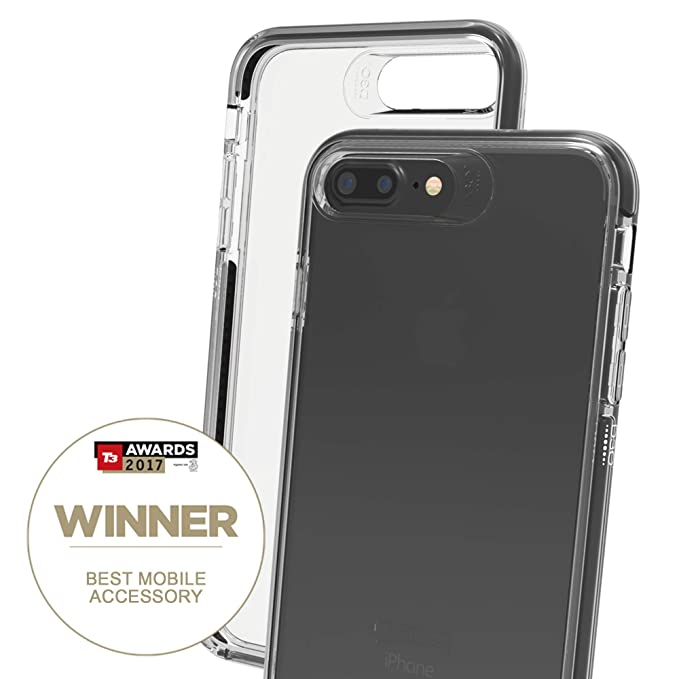 brand new d8e91 35934 Gear4 D30 Piccadilly Case for iPhone 8 Plus/7 Plus Slim, Tough Design -  [Protected by D3O] - Clear/Black
