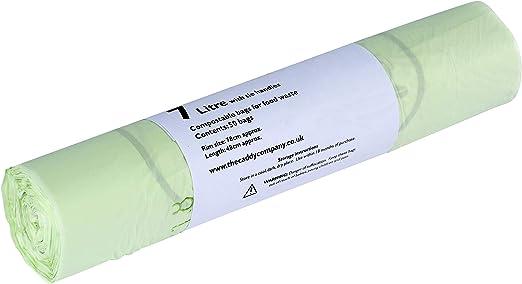 5 L, 100 unidades color verde Bolsas de basura biodegradables y compostables The Caddy Company