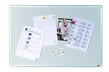 Kombinettafel 120x90 cm Pinnwand f/ür Magnete und Pinns Bi-Office mit Alurahmen