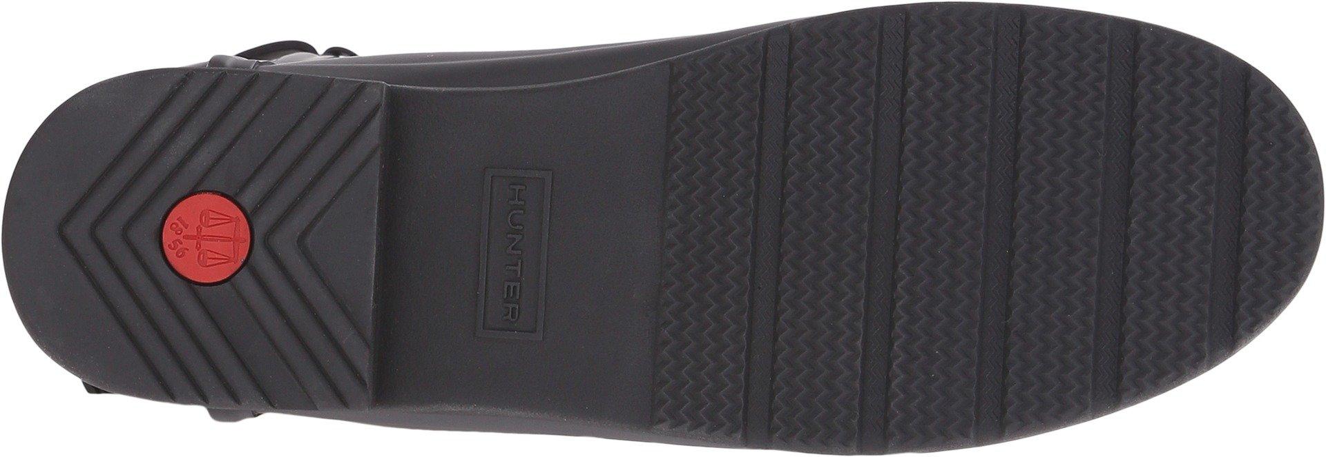 Hunter Women's Original Short Refined Back Strap Rain Boots Black 6 M US by Hunter