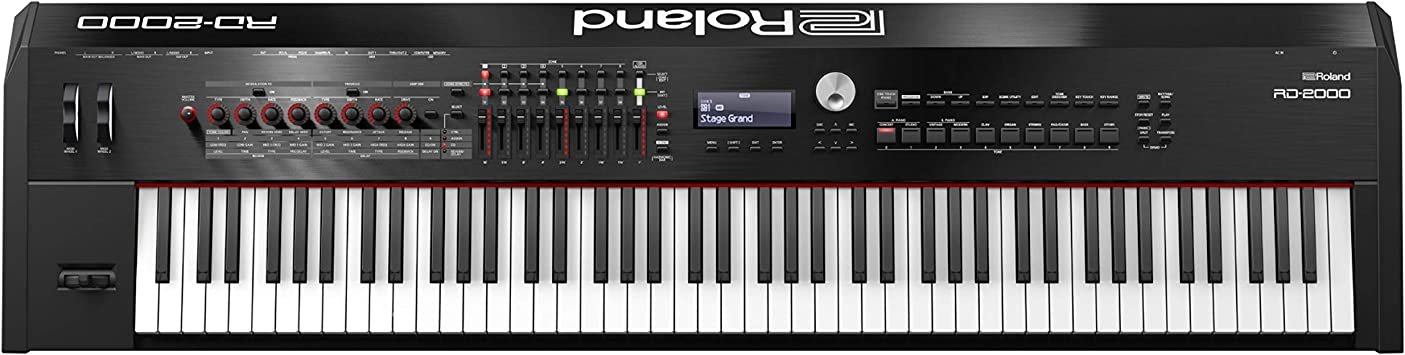 Roland RD-2000 88keys Negro piano digital - Teclado electrónico (23 W, 1412 mm, 367 mm, 140 mm, 21,7 kg, LCD)