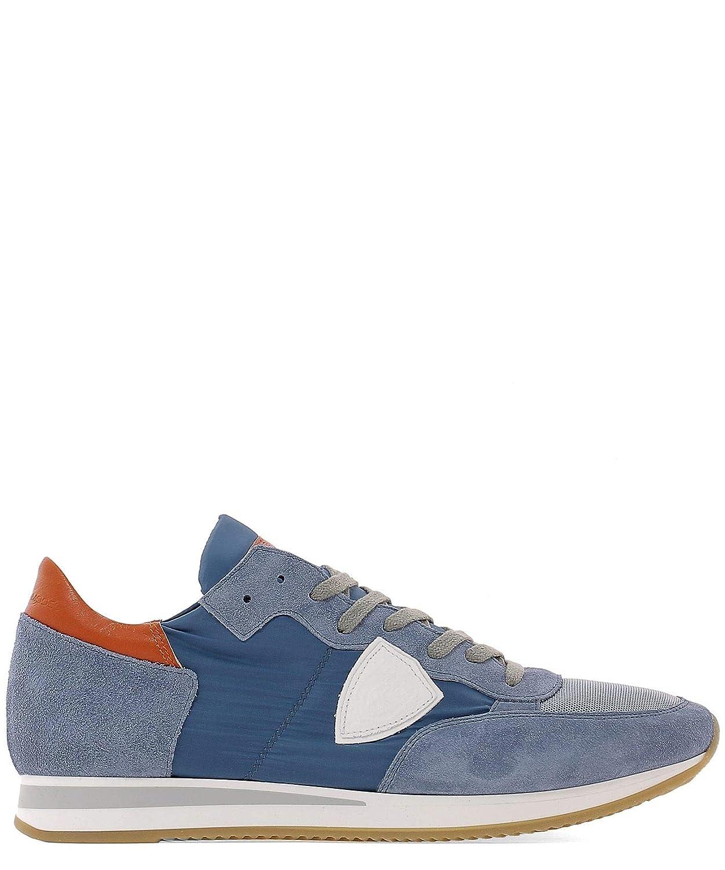 - PHILIPPE MODEL Men's TRLU1104 bluee Suede Sneakers