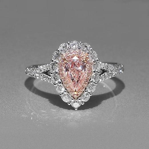 Diamantes Rosa Artificiales Artificiales Exagerados de Las Mujeres ...