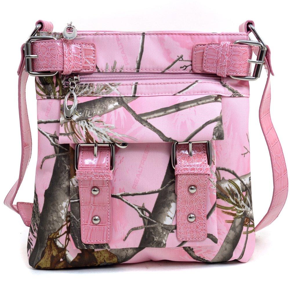 Amazon.com: Realtree APG Pink Cross Body Messenger Bag, Womens ...