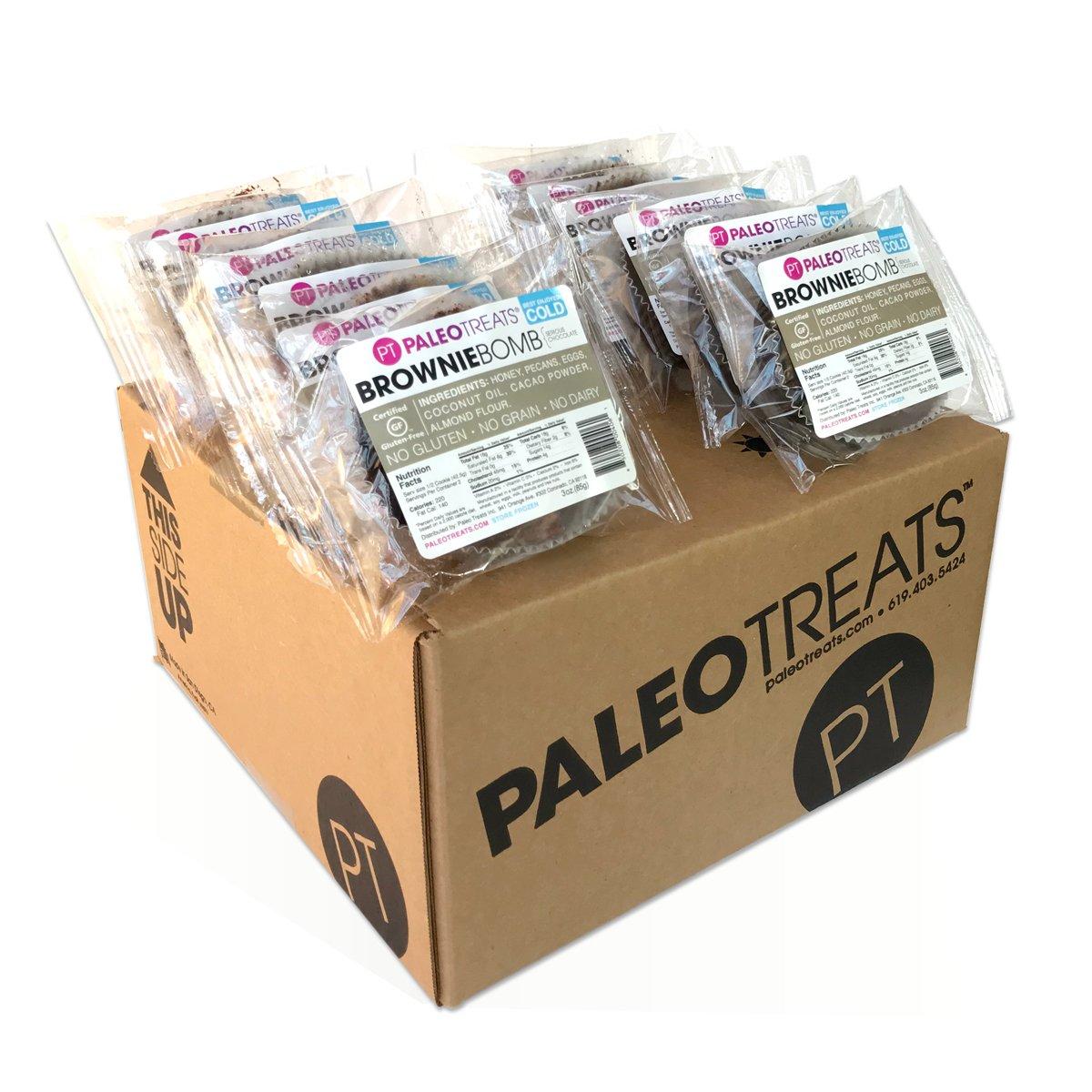 Paleo Treats Brownie Bomb: Paleo cookie, Gluten-Free, Grain-Free, Dairy-Free, Soy-Free, Real Food Dessert (Box of 12)