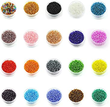 Glass Round Beads for Bracelet Chain Decor Accessories Jewelry DIY Making 1 Set