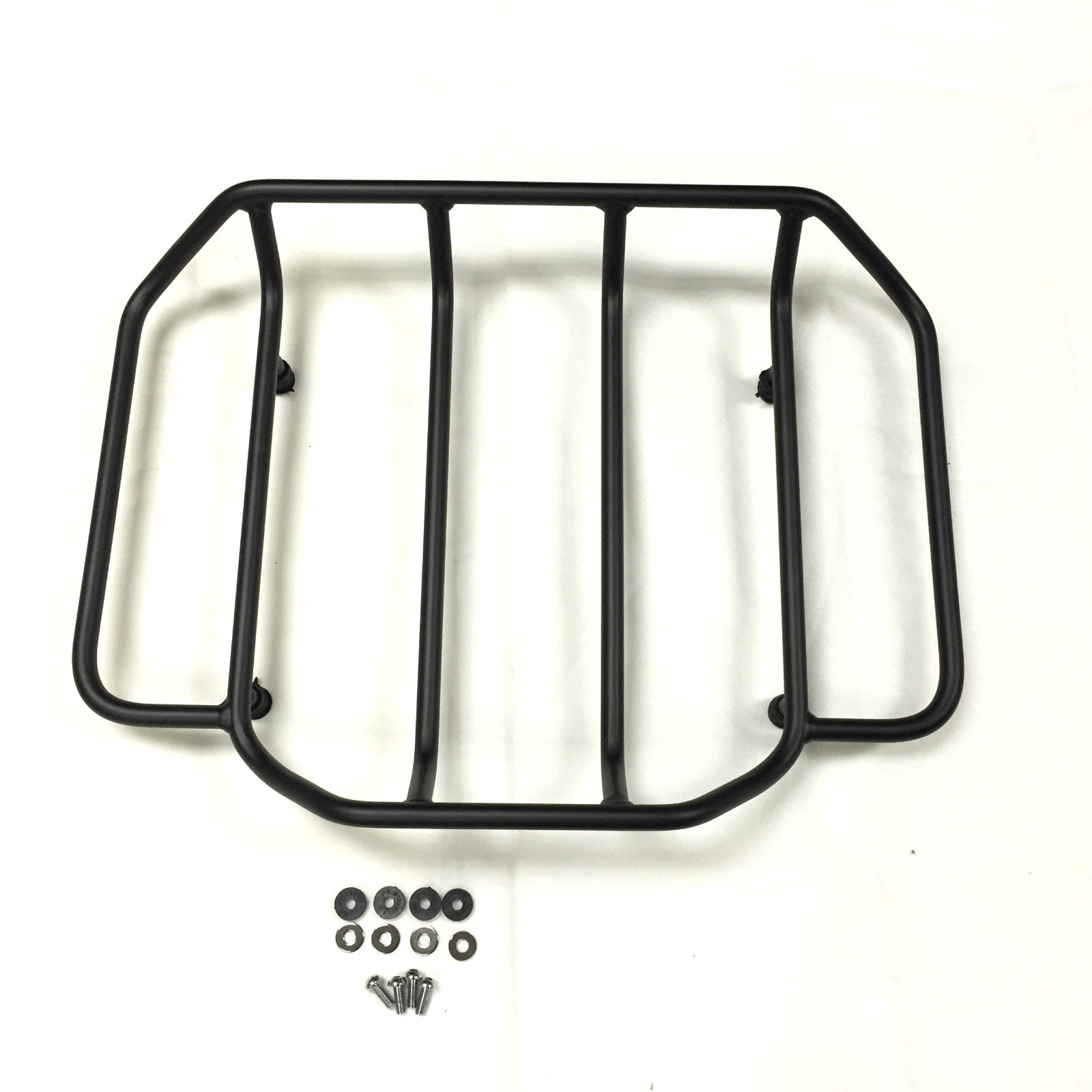 HTT Group Motorcycle Black Luggage Rack Rail Trunk Luggage Rack Rail For Harley Touring Road King Street Glide Road Glide Electra Glide FLHTC FLHS