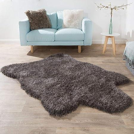 DE Hochflor Kunstfell Carpet Teppich Fellteppich Shaggy Flokati-Stil Langflor
