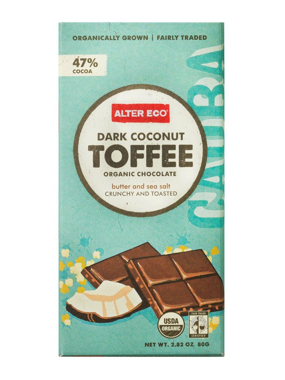 Amazon.com : Alter Eco Dark Coconut Toffee Organic Chocolate, 2.82 ...