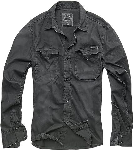 TALLA L. Brandit Hardee Denim Shirt Camisa para Hombre