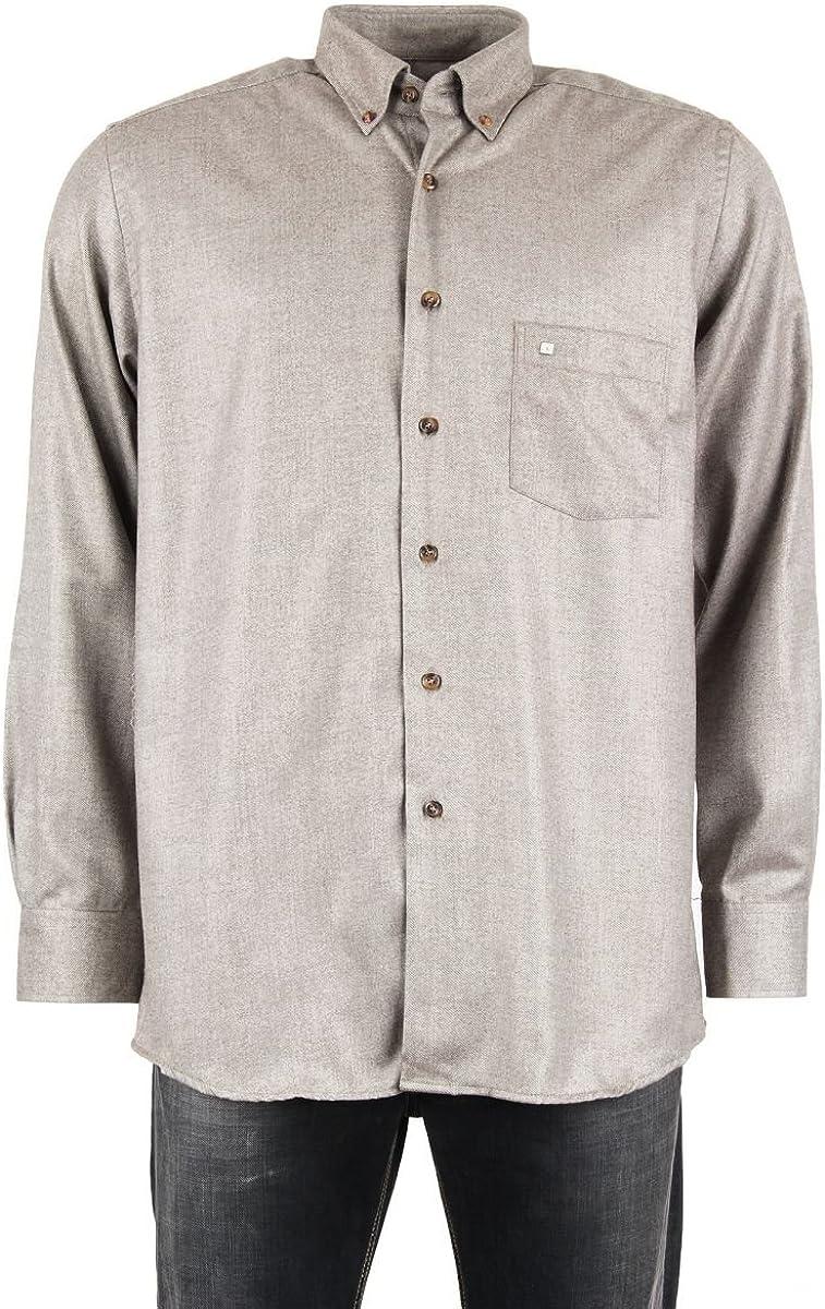 Pierre Cardin-Camisa para hombre, color gris marrón T5 ...