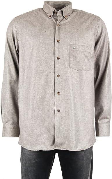 Pierre Cardin-Camisa para hombre, color gris marrón T5: Amazon.es: Ropa y accesorios
